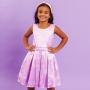 Vestido Infantil Balão Roxo