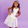Vestido Infantil Tie Dye Rosa
