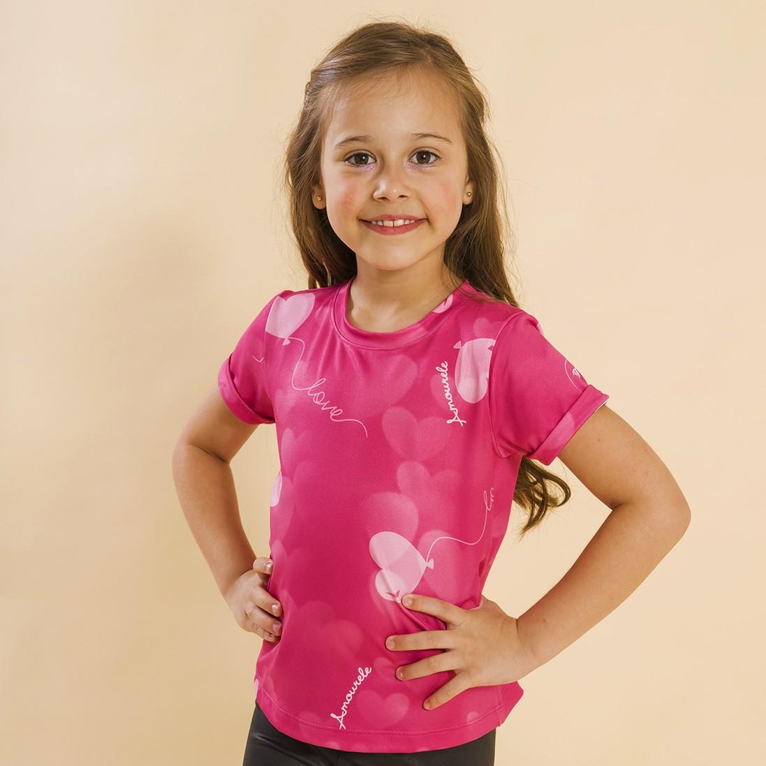 Blusa Infantil Balão Rosa
