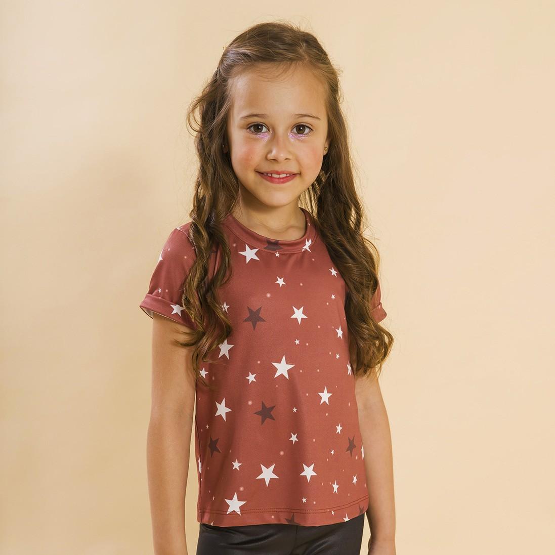 Blusa Infantil Estrelas Vermelho