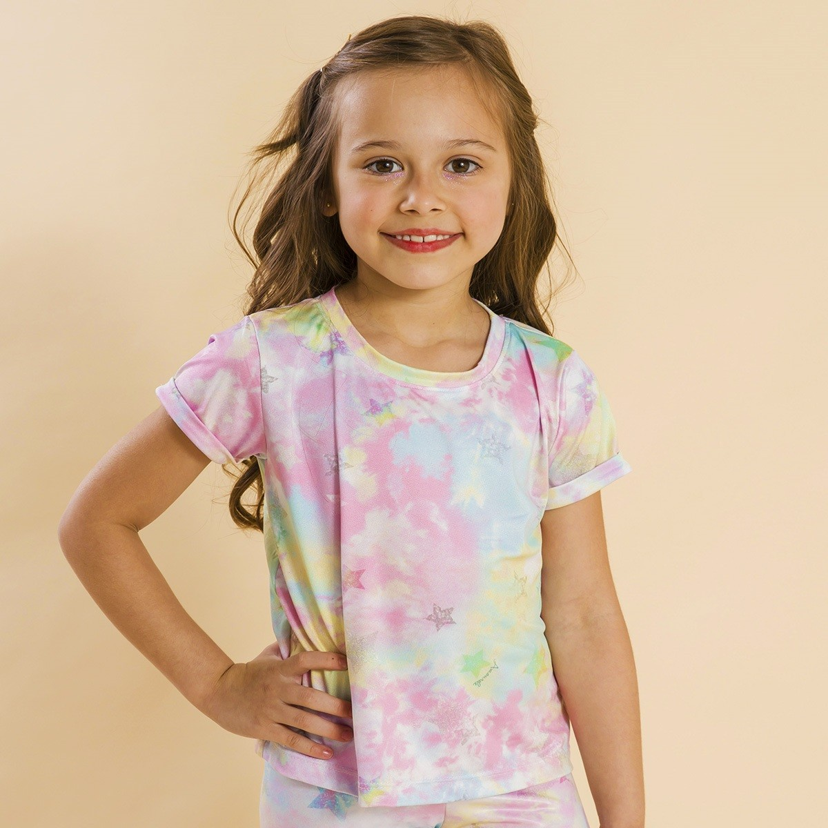 Blusa Infantil Tie Dye Rosa Ano Novo