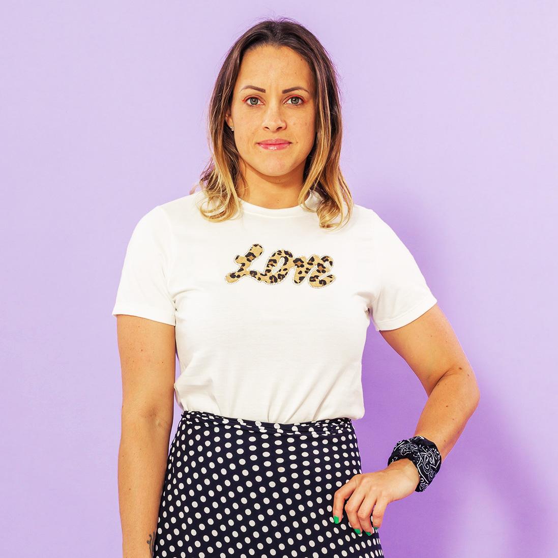 Combo 2 Peças - Tshirt Adulta + Tshirt Infantil Love Off White