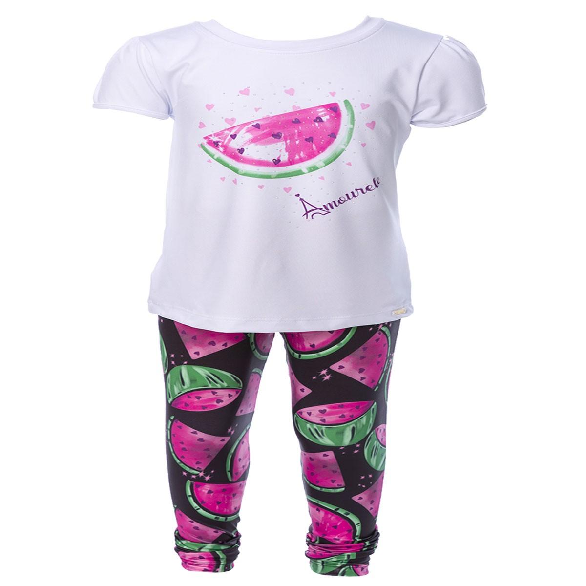 Conjunto Infantil Blusa e Legging Comprida Melancia