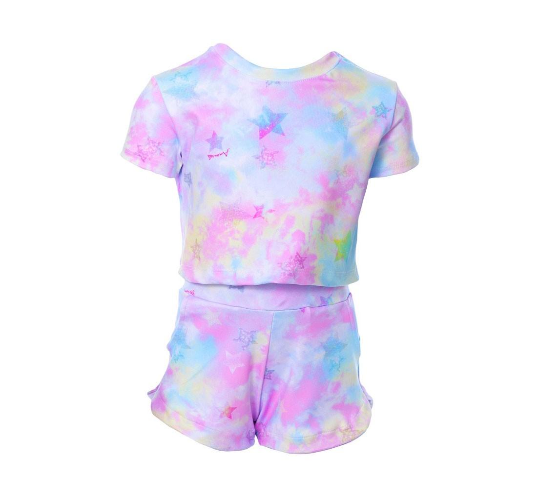 Conjunto Infantil Bomber Tie Dye Rosa