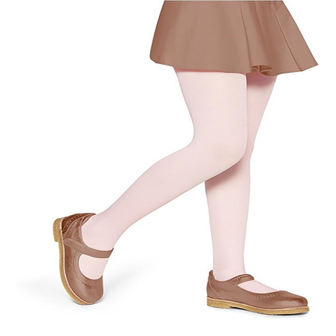 Meia Calça Fina Infantil Transparente Fio 20 Branco