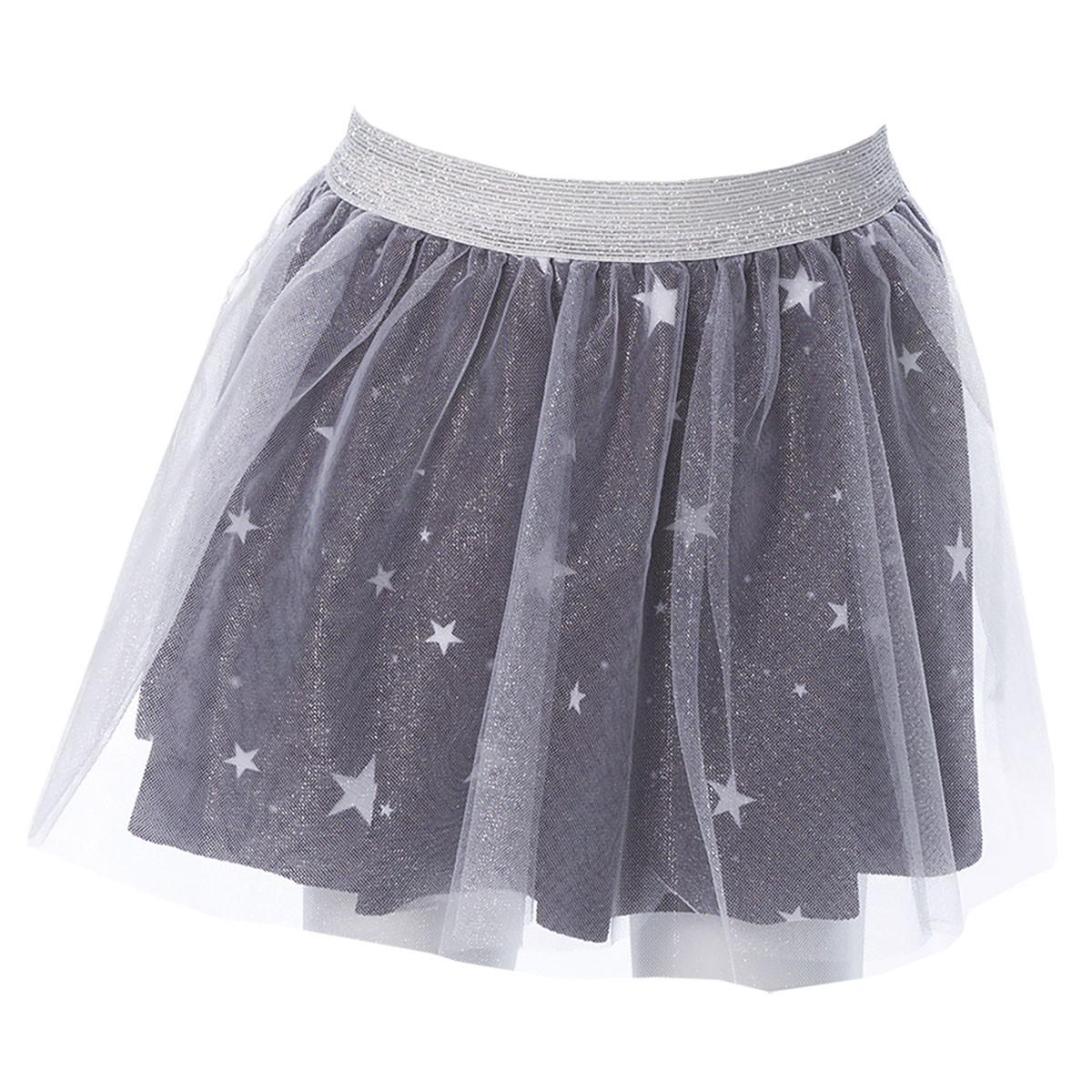 Saia Infantil Bailarina Estrelas Preto