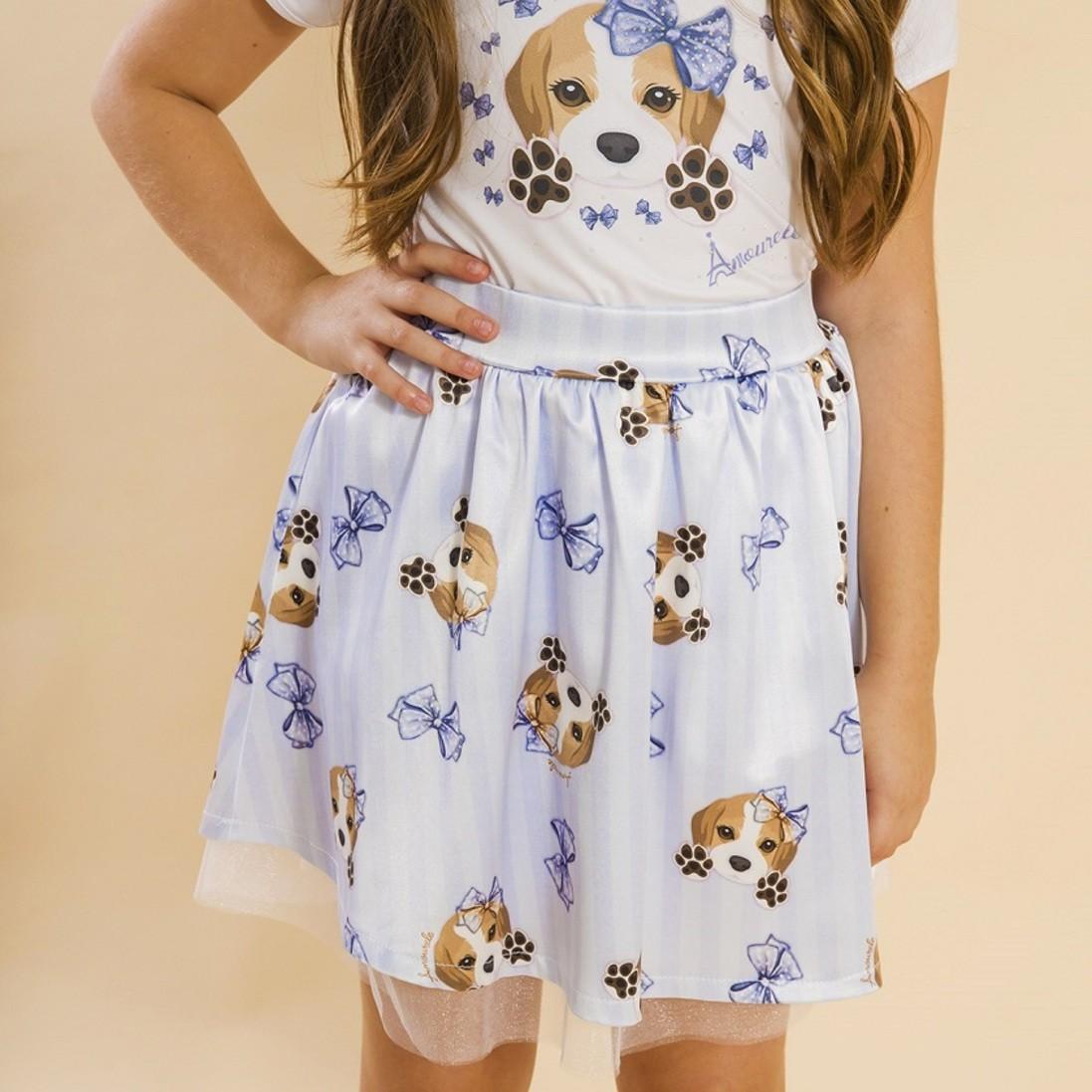 Saia Infantil Beagle Azul