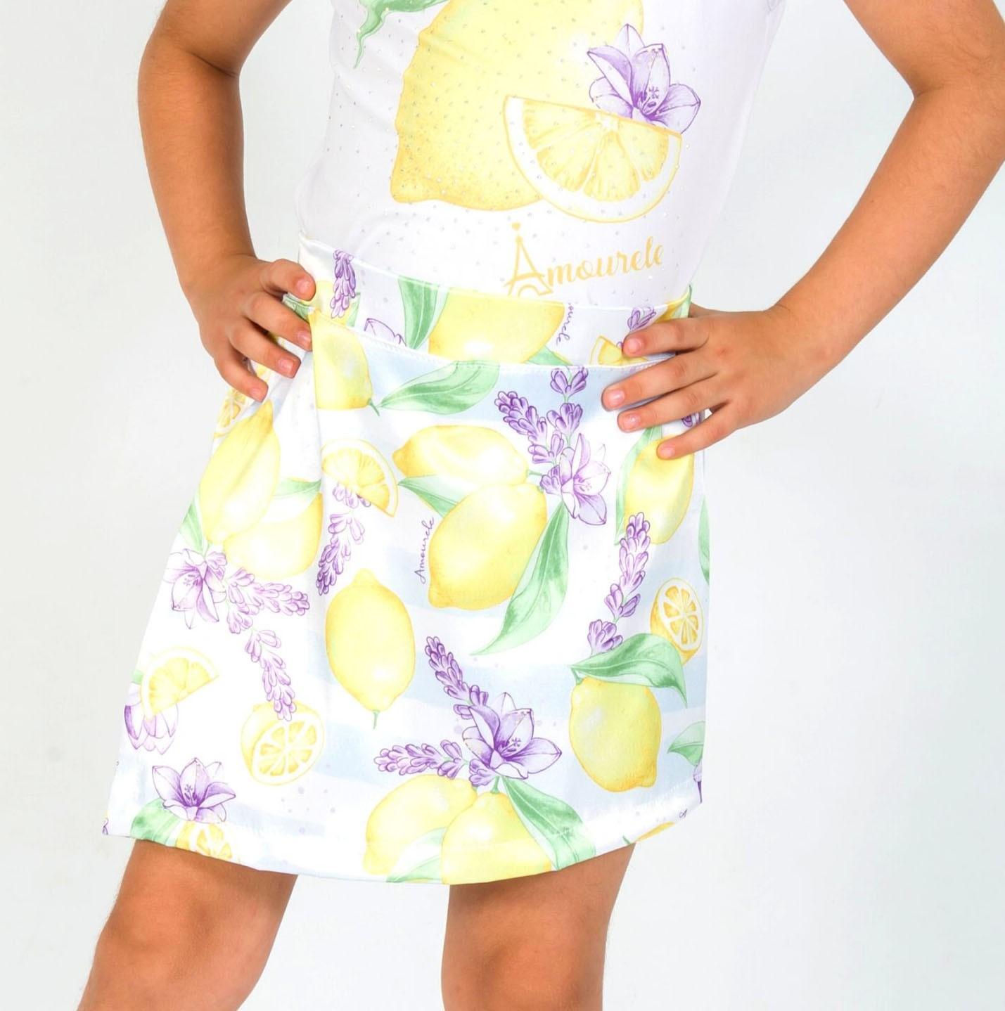 Short Saia Infantil Limão Amarelo