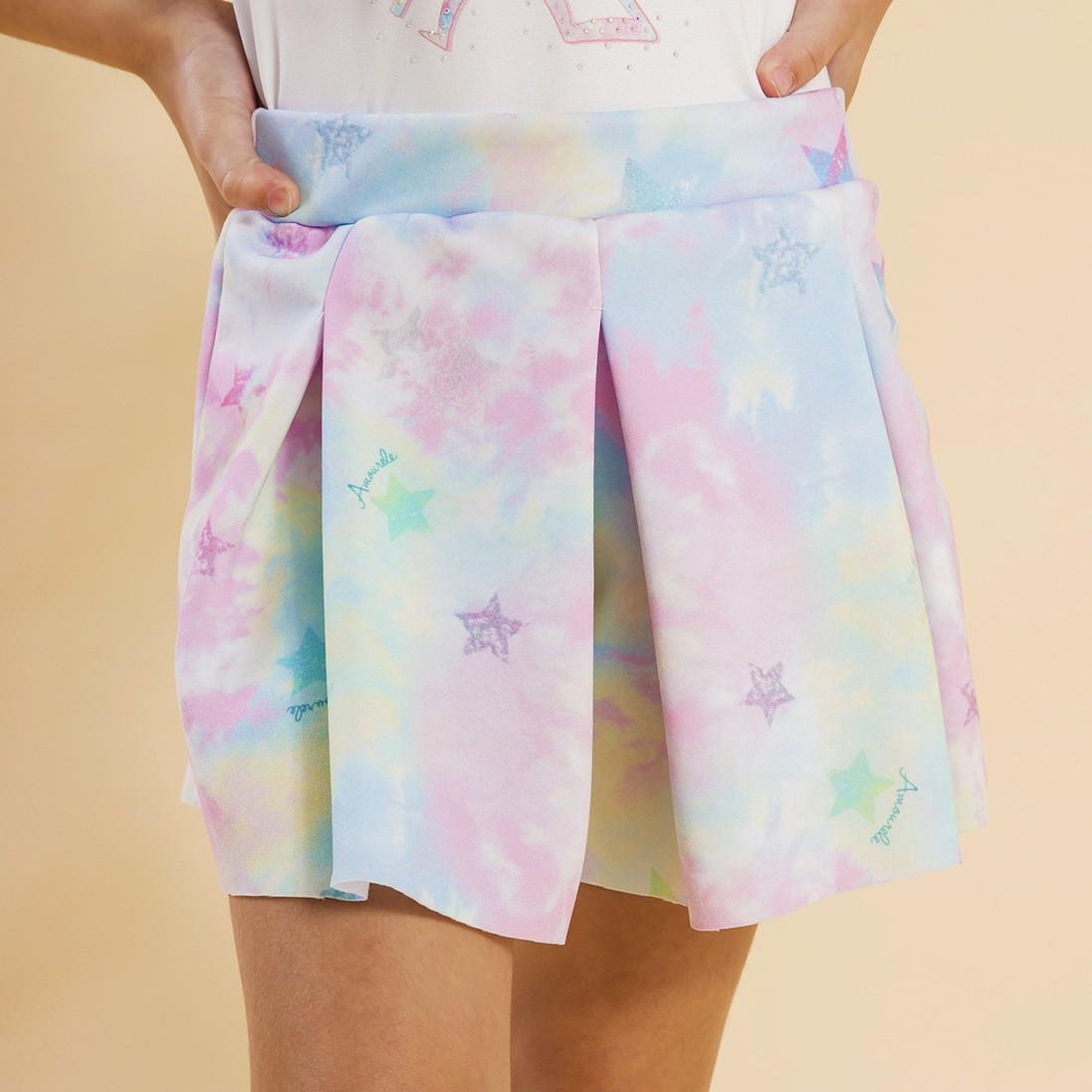 Shorts Malha Infantil Tie Dye Rosa