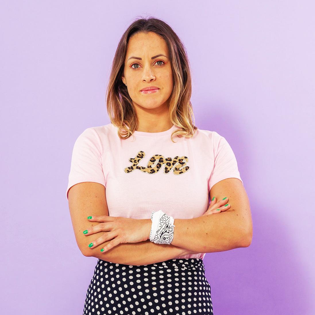 T-shirt Adulta Love Rosa