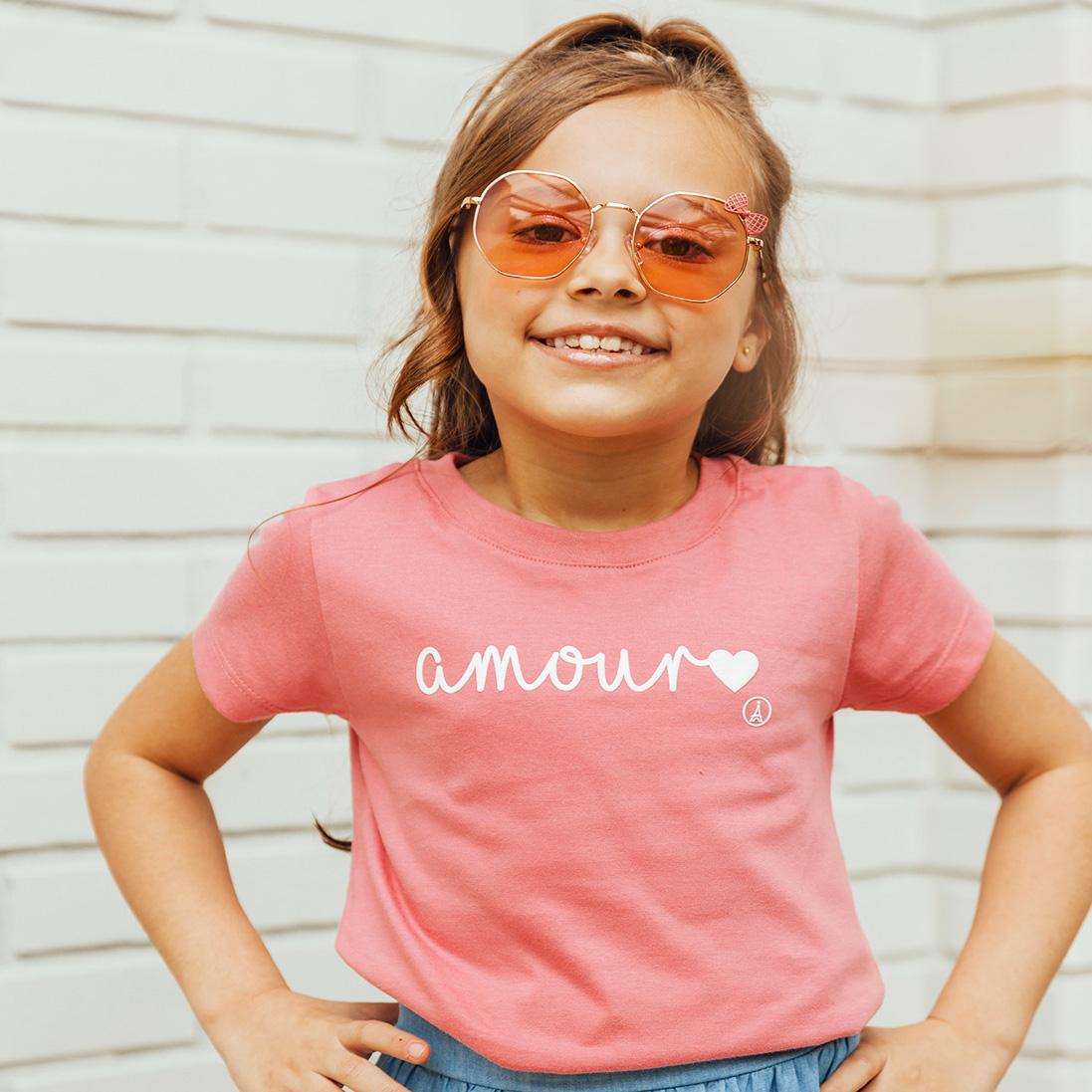 T-shirt Estampada Amour Rosa