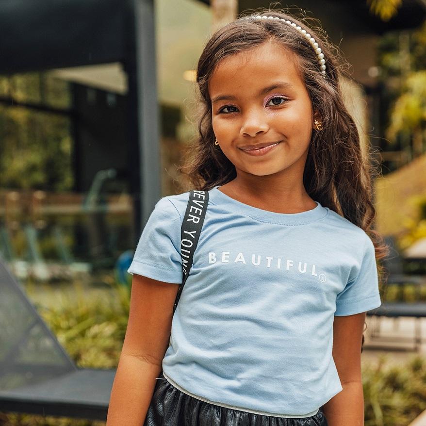 T-shirt Estampada Beautiful Azul