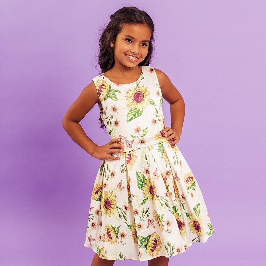 Vestido Infantil Girassol Amarelo