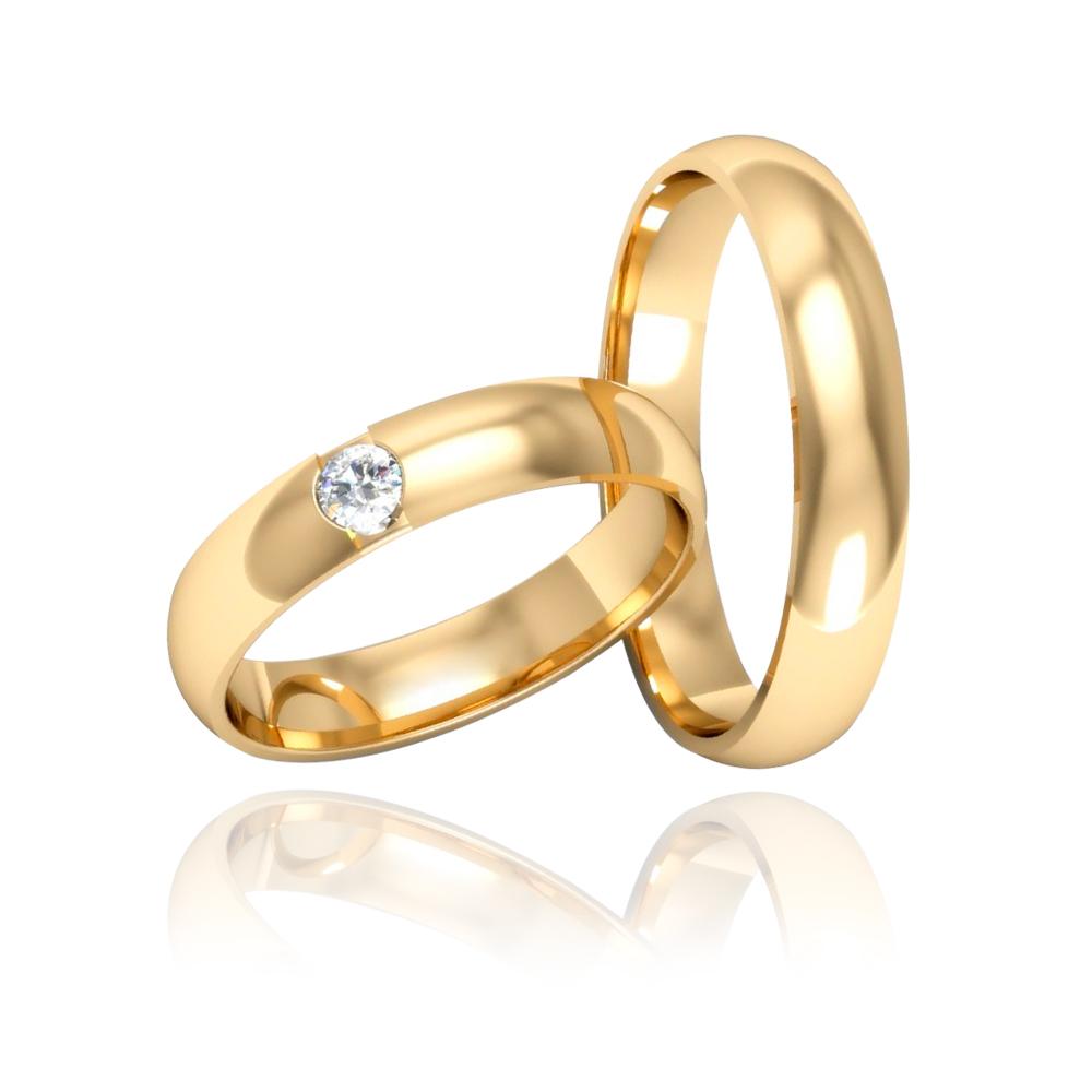 Alianças de Casamento Los Angeles Ouro 18K