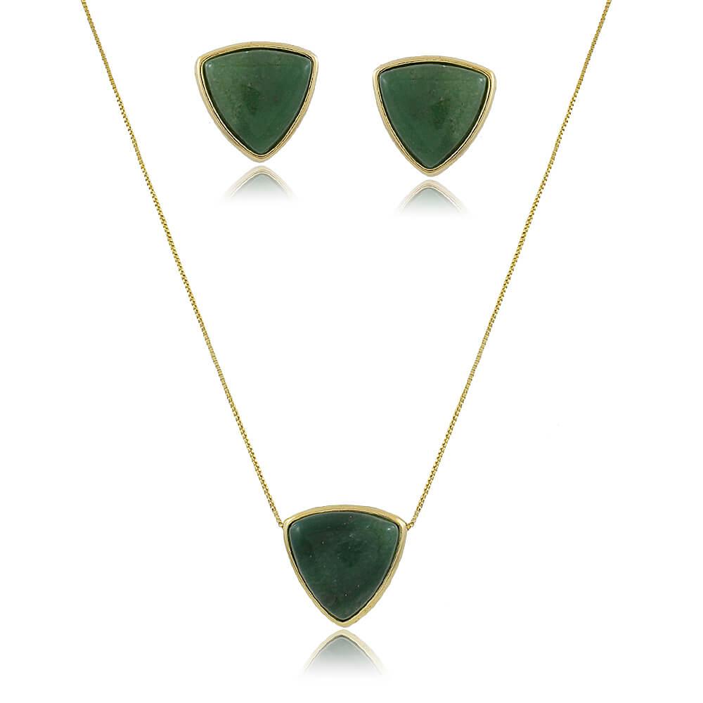 Conjunto Pedras Naturais Quartzo Verde