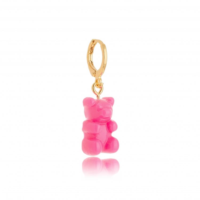 Pingente Ursinho Color - Pink Transparente