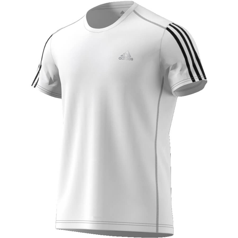 Camiseta Adidas Run 3 Stripes