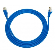 Cabo Rede Patch Cord 5m Cat.5E Azul, PLUS CABLE PC-ETHU50BL