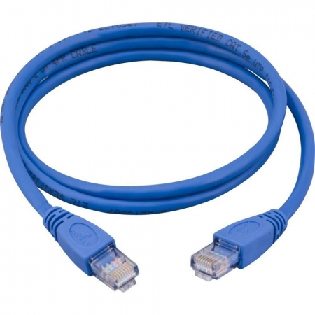 Cabo Rede Patch Cord Cat.5e 2,5m Azul, PLUS CABLE PC-ETHU25BL