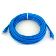 Cabo Rede Patch Cord Cat.5E Azul 10m, PLUS CABLE PC-ETHU100BL