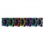 Cooler Kit com 2pçs 120x120x25, C3TECH F7L500RGB LED