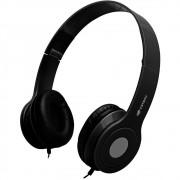 Fone Headset com Microfone, Dobrável, C3TECH PH-100BK Preto