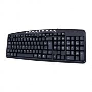Teclado USB Multimídia Preto, C3TECH KB2237-2