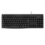 Teclado USB Multimídia Preto, C3TECH KB-M31BK