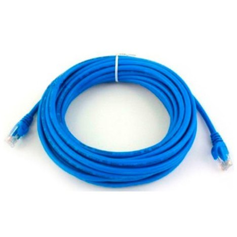 Cabo Rede Patch Cord Cat.5e 10,0m Azul, PLUS CABLE PC-ETHU100BL