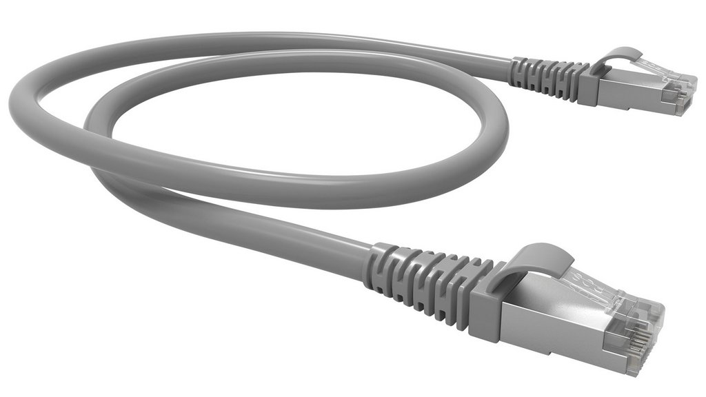 Cabo Rede Patch Cord Cat.5e 2,0m Blindado Cinza