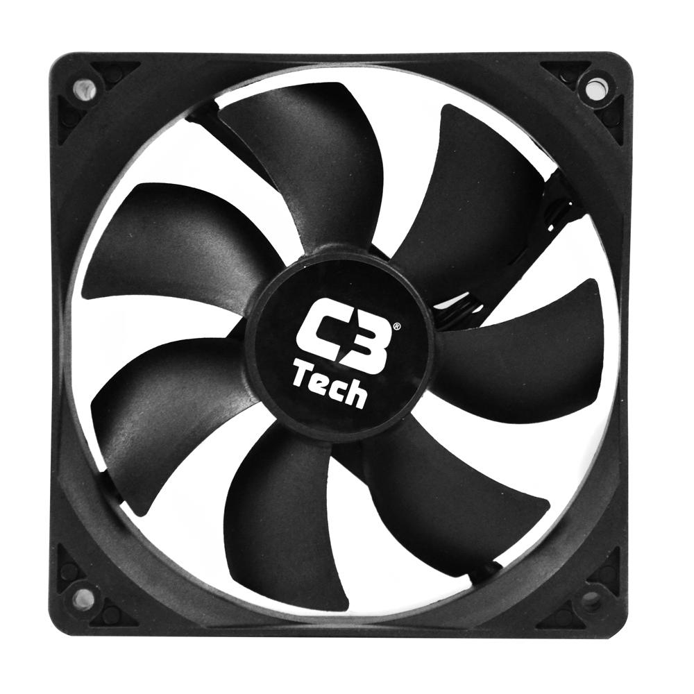 Cooler  12 x 12mm Storm Preto, C3TECH F7-100BK