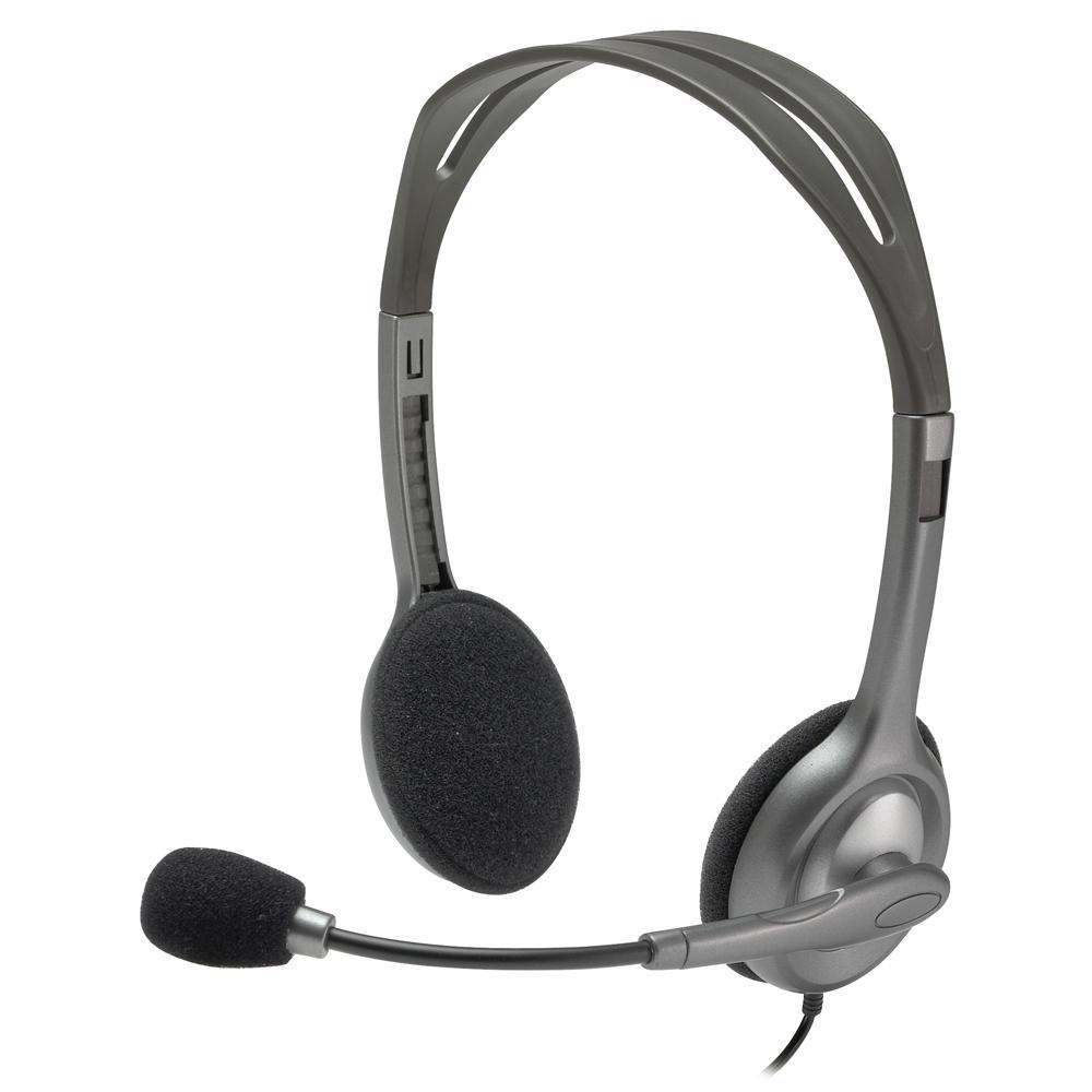 Fone Headset com Microfone, LOGITECH H110