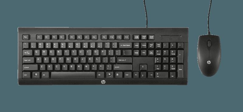 Kit Teclado e Mouse USB Preto, HP C2500
