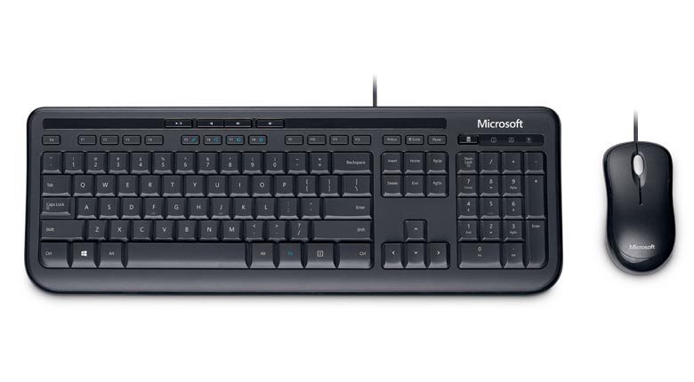 Kit Teclado e Mouse USB Wired Desktop, MICROSOFT 600 - For Business