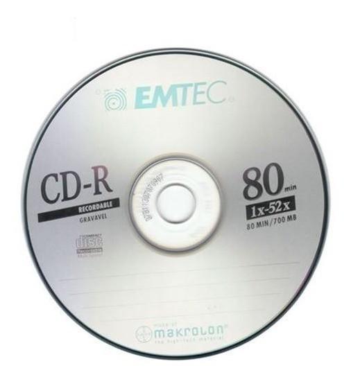 Mídia CD-R 700MB, EMTEC BOX