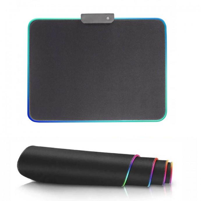 Mouse Pad Com Borda de 7 Cores de LED, EXBOM MP-LED2535