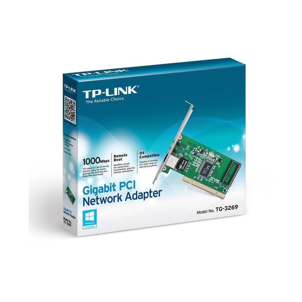 Placa Rede PCI - Gigabit 10/100/1000, TP LINK TG-3269