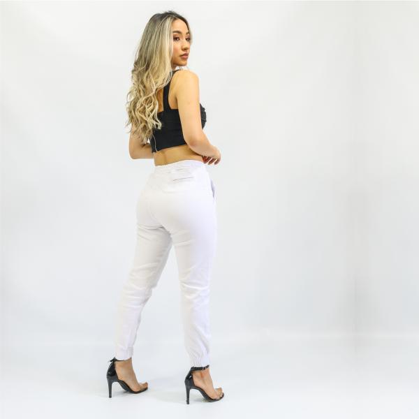 Calça Feminina Jogger Branca (Elastano)