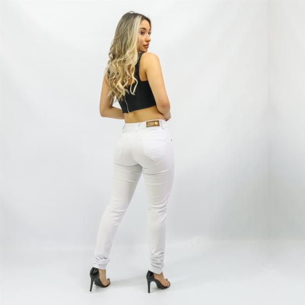 Calça Feminina Modeladora (Push Up) Branca Impermeável (Elastano)