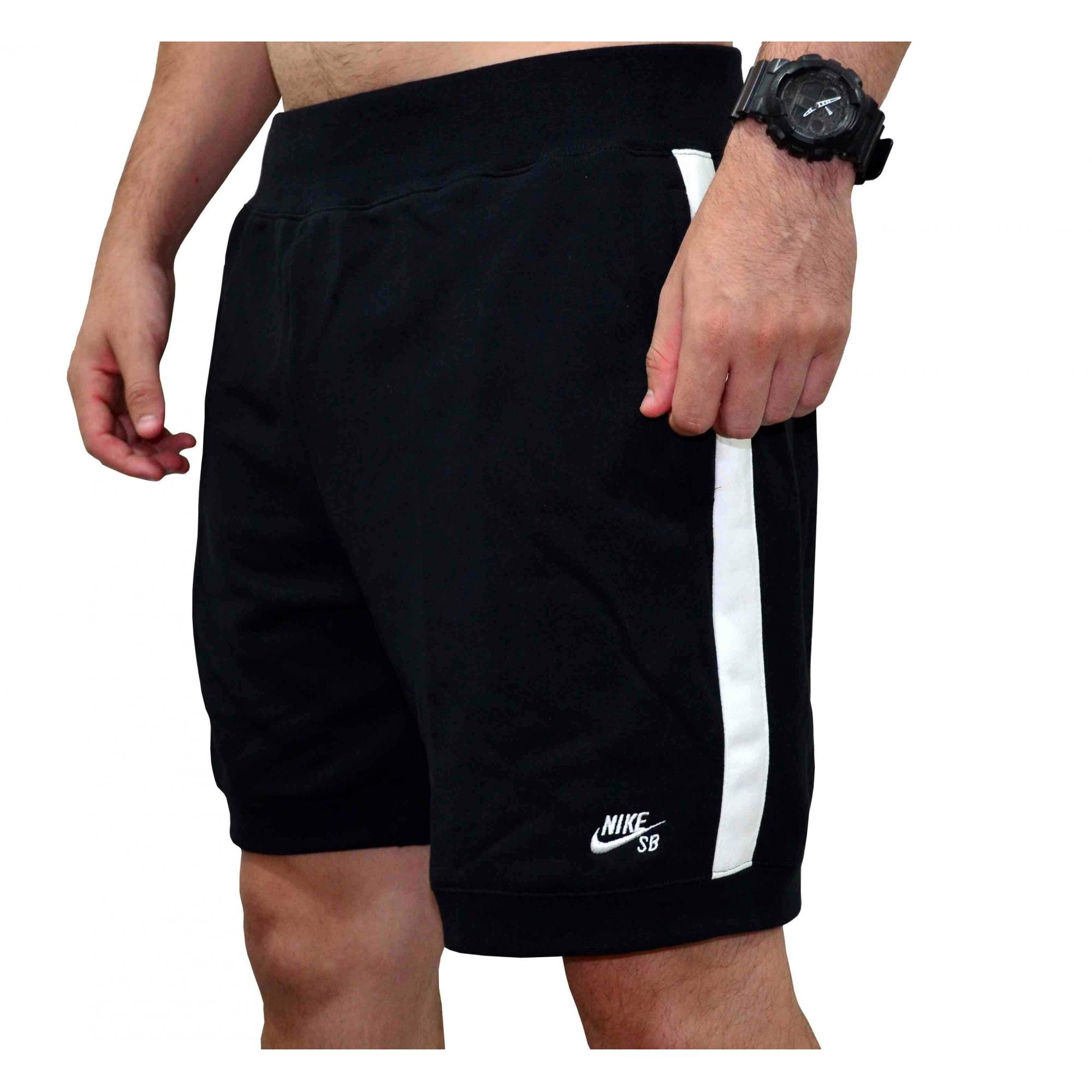 Bermuda Nike SB Y2K Fleece - Preto