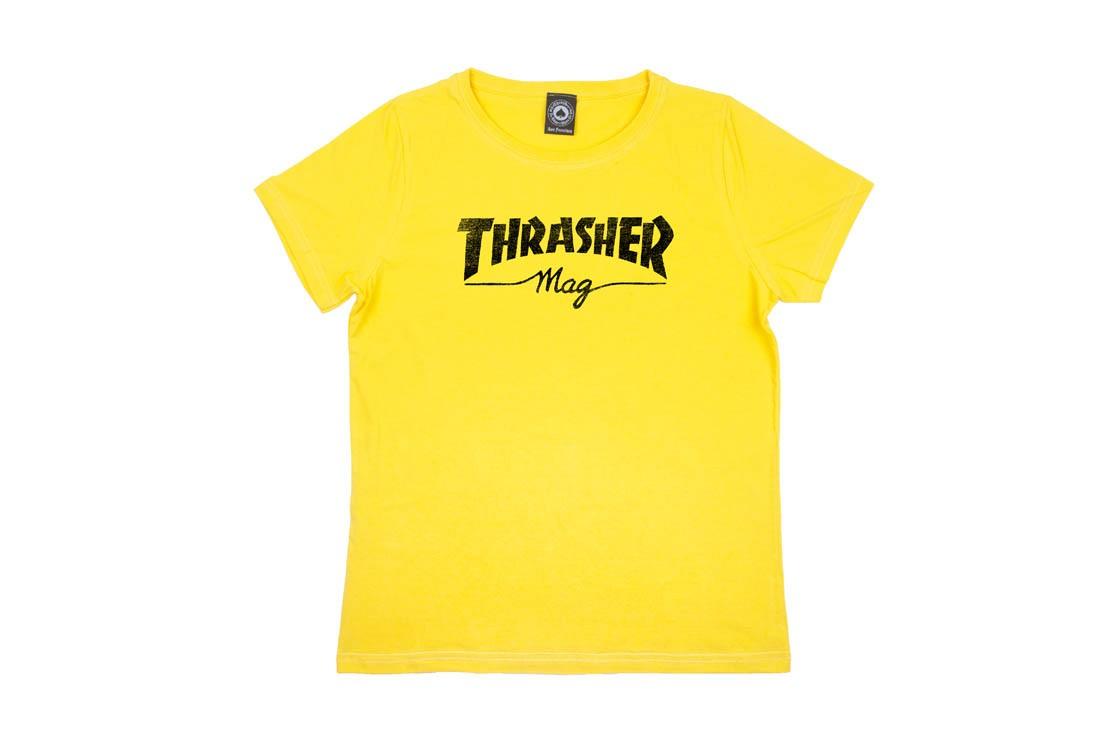 Camiseta Thrasher Mag Girl Feminina - Amarelo