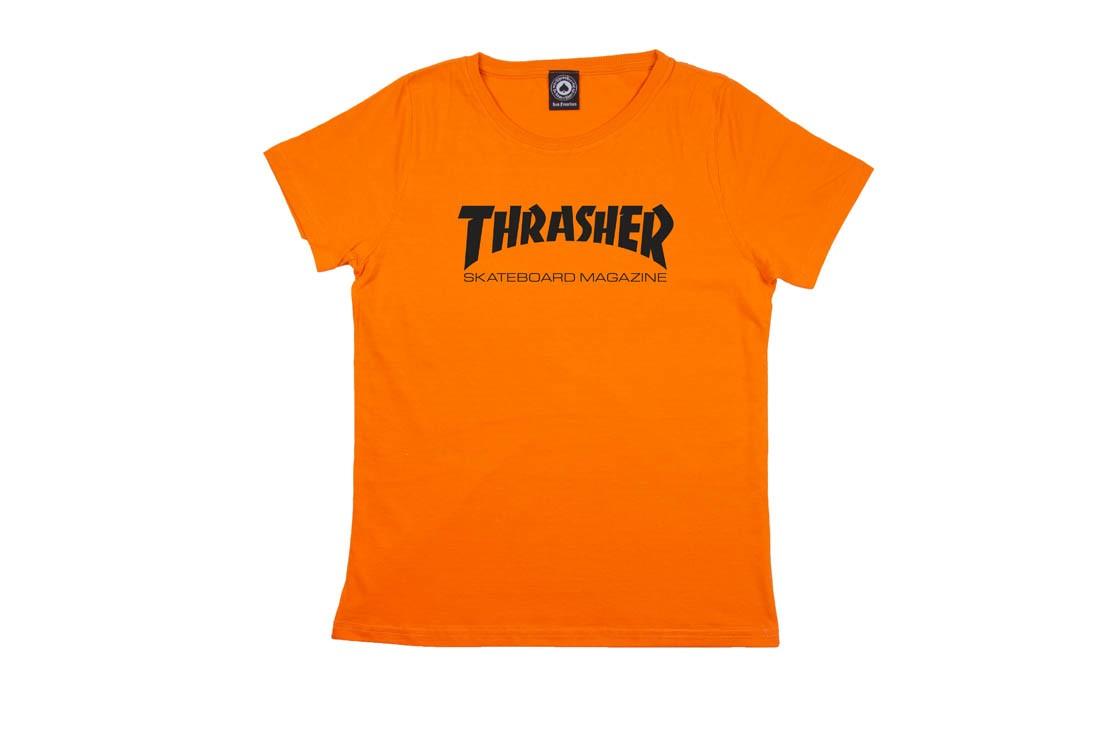 Camiseta Thrasher Mag Girl Feminina - Laranja