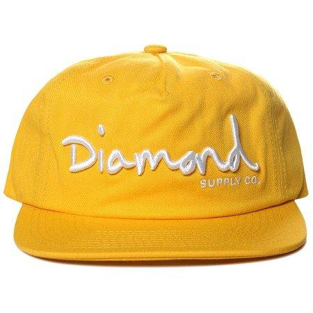 Boné Diamond OG Script Unstructured Amarelo