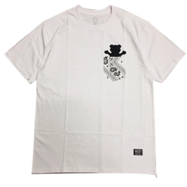 Camiseta Grizzly Bandana Pocket Tee Branco