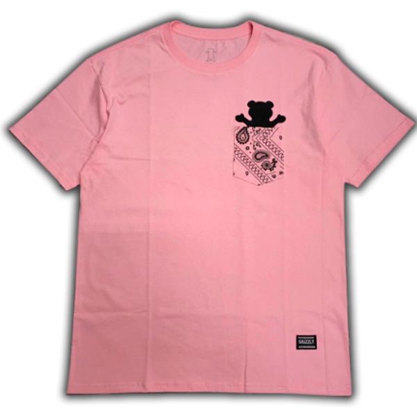 Camiseta Grizzly Bandana Pocket Tee Rosa