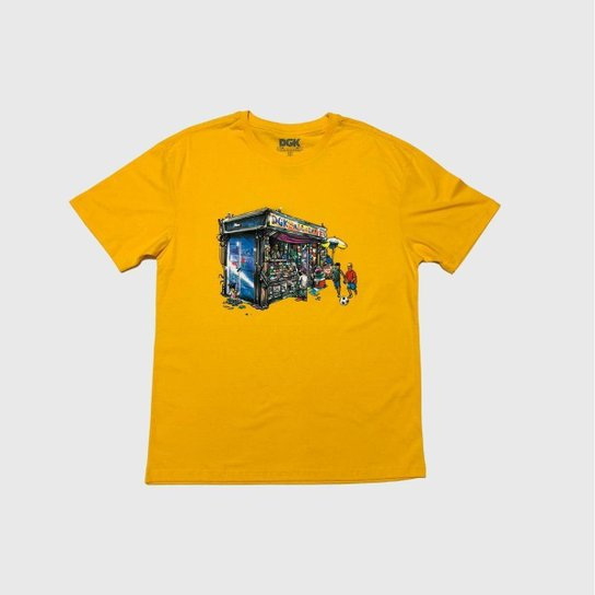 Camiseta DGK Daily News - Amarelo