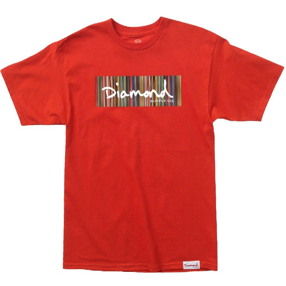 Camiseta Diamond Color Ply Box Logo - Vermelho