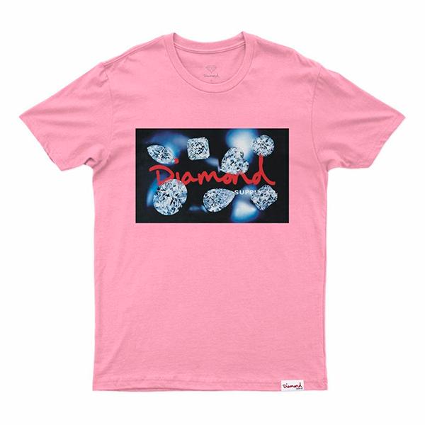 Camiseta Diamond Cuts Rosa