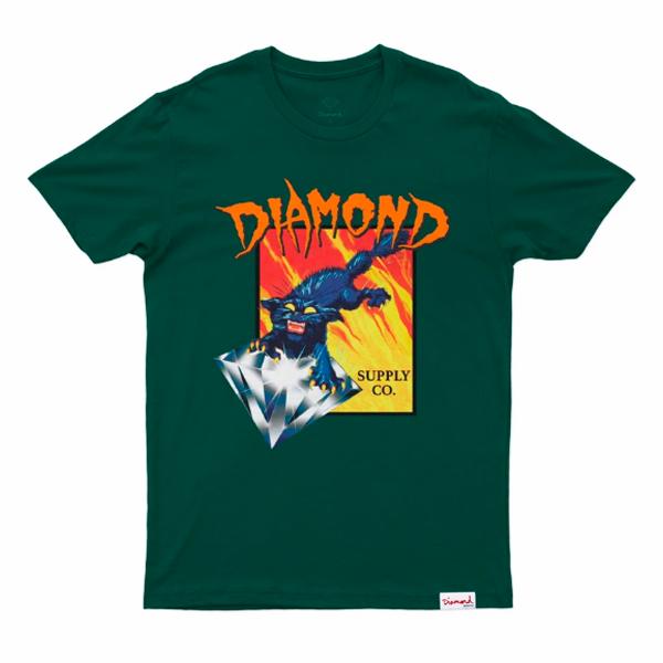 Camiseta Diamond Greed Tee Verde Floresta