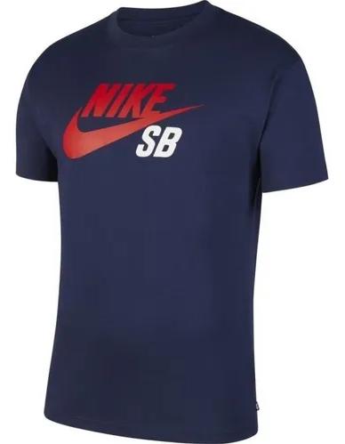 Camiseta Nike SB Logo Tee Azul
